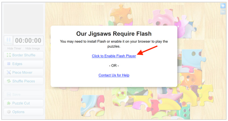 Enable Flash On Microsoft Edge Crazy4jigsaws Crazy4jigsaws doesn't have any playlists, and should go check out some amazing content on the site and start adding some! help crazy4jigsaws com